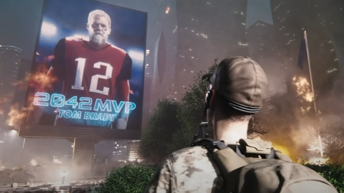 New Battlefield 2042 Trailer Features Old Man Tom Brady - ComicBook.com