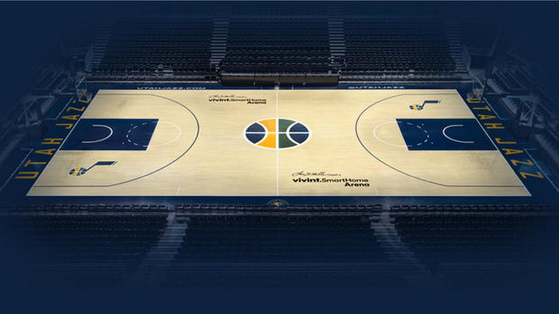 Look Utah Jazz Unveil Sleek New Logo Uniforms Court