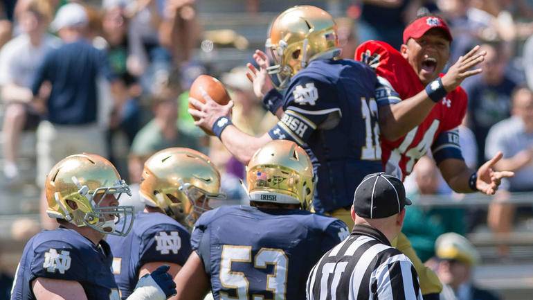 what college teams play today college football scores notre dame