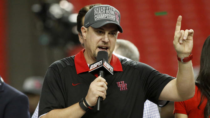 Houston coach Tom Herman takes some shots at rival SMU
