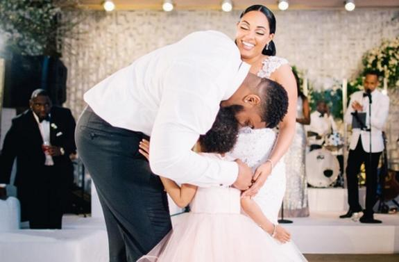 LOOK: Leah Still shows off adorable dance moves at her father Devon's wedding