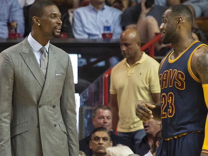 As LeBron pursues return to NBA Finals, his thoughts are with Chris Bosh - CBSSports.com