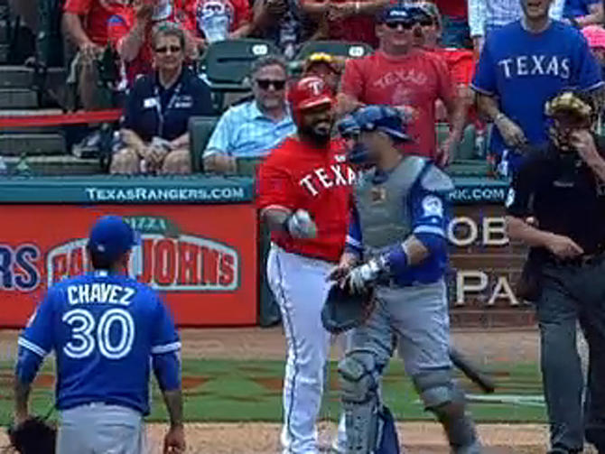 Blue Jays-Rangers fight: Be more like Prince Fielder and laugh it off - CBSSports.com