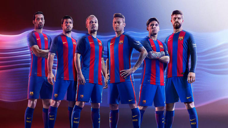 20c269952 LOOK  Barcelona reveals new uniforms for 2016-17 with traditional stripes  back - CBSSports.com