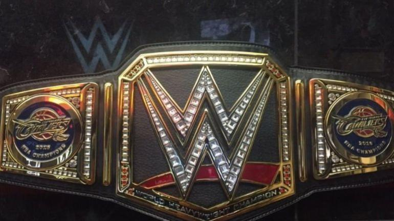 look  triple h unveils wwe championship belt for cavs