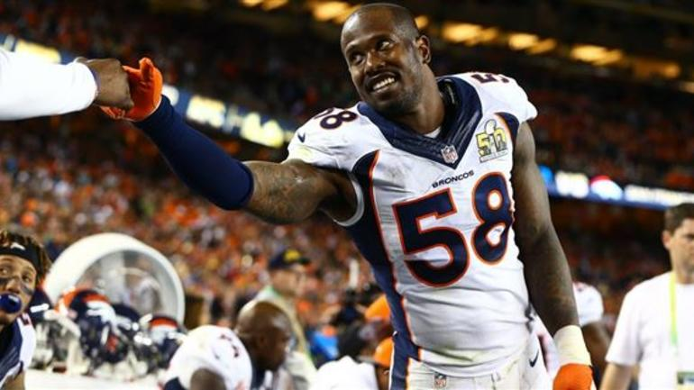 23761fa4079 LOOK  Von Miller wearing Kanye West s never-seen-before cleats ...