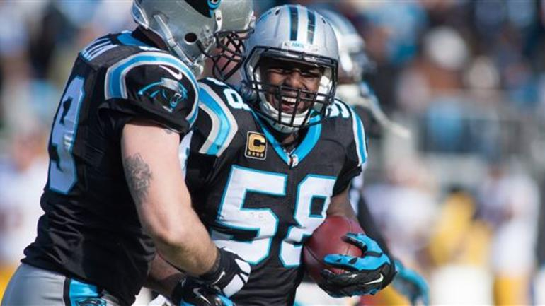 timeless design ee939 b1fe5 Duo of Luke Kuechly and Thomas Davis ranked second in NFL ...