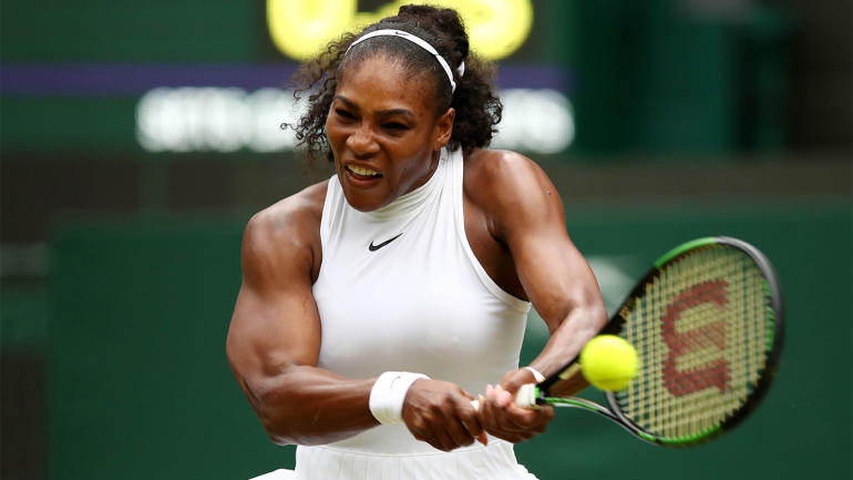 wimbledon results  serena williams survives scare from unseeded american