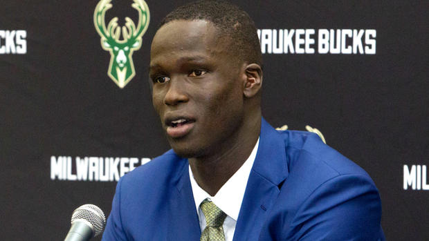 Thon Maker meets the media in Milwaukee
