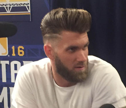 IMPORTANT Bryce Harpers On Top Of His Hair Game For The MLB All