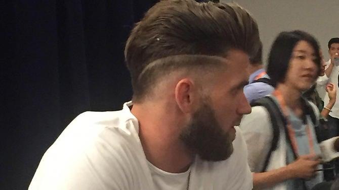 Nationals Superstar Bryce Harper With Hair Closer