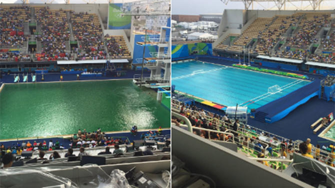 Rio 2016 We Now Have A Reason For Why The Olympic Pools Are Turning Green