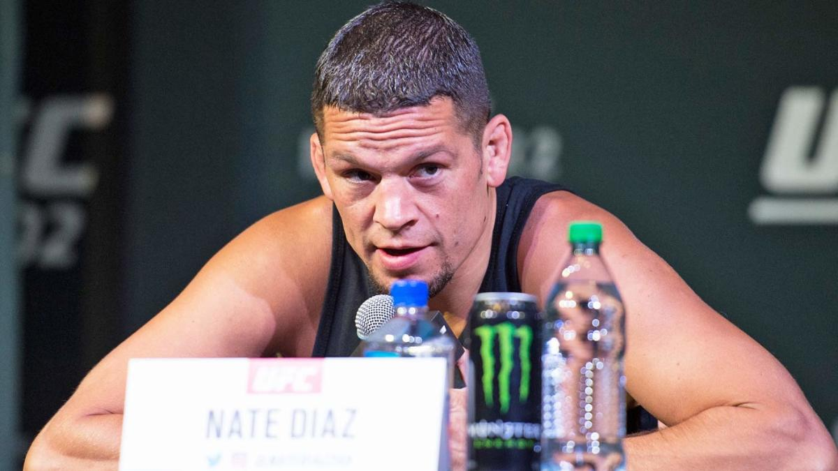 WATCH: Nate Diaz lights a 'joint' at UFC 241 open workouts, briefly draws ire of Dana White