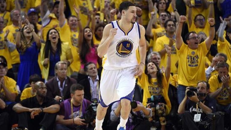 f09cf10a523a WATCH  Klay Thompson scores 40 points in the first half - CBSSports.com