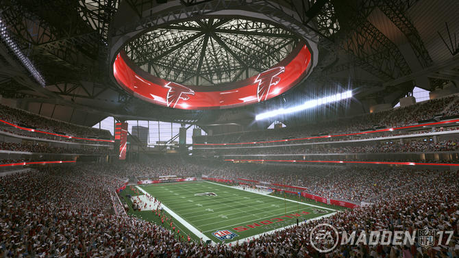 Watch here 39 s a 39 madden 39 virtual tour of falcons 39 new for Falcons mercedes benz stadium