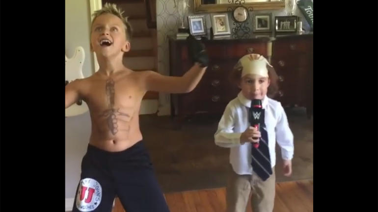 Stream Nascar Free >> WATCH: Young WWE fans nail adorable impressions of Brock Lesnar, Paul Heyman - CBSSports.com