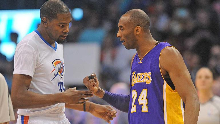 09adb574aca5 Here s the piece of advice Kobe Bryant gave Kevin Durant when he joined the  Warriors - CBSSports.com