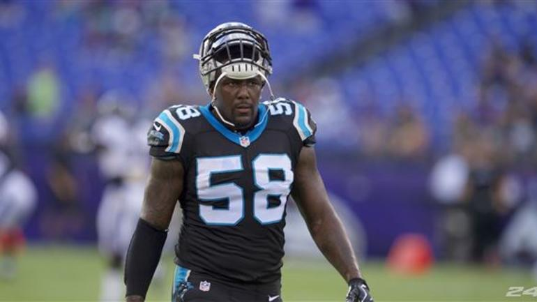 Thomas Davis leaves Falcons game with hamstring injury ...