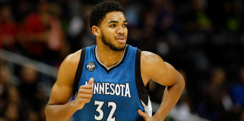 Karl-Anthony Towns as a rookie