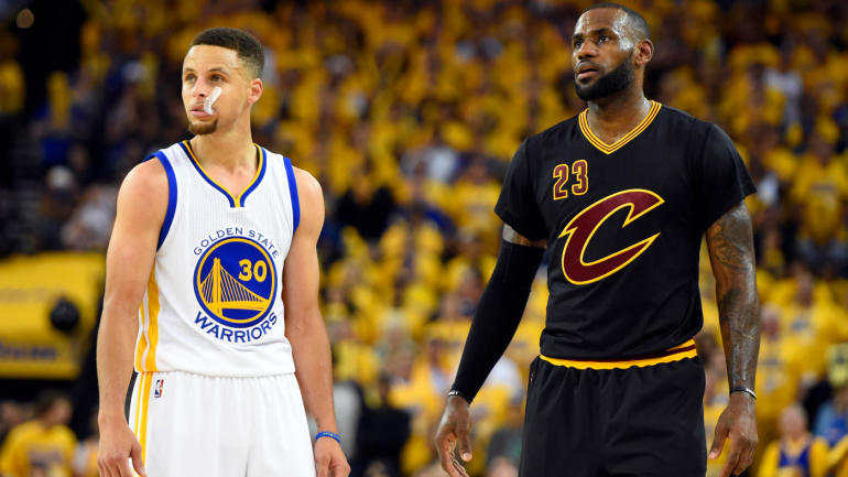 73a442180d5 LeBron James talks Stephen Curry on Ellen   Don t get fooled by that smile   - CBSSports.com