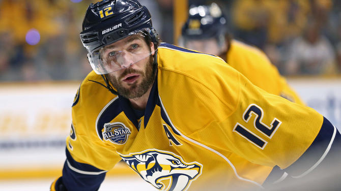 newest collection f8fd2 cdc93 Mike Fisher replaces Shea Weber as Predators captain ...