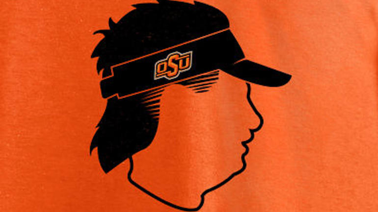 mike gundy has a mullet  and looks like an idiot lsu clip art to print lsu clip art funny