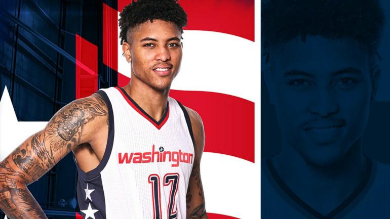 68665b6abba LOOK  Wizards unveil military-themed  Stars and Stripes  alternate uniforms  - CBSSports.com