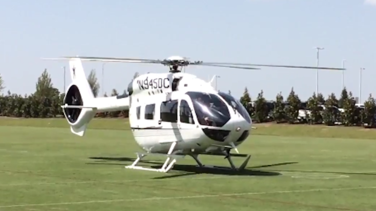 LOOK Jerry Jones Buys Awesome Helicopter With The Cowboys Logo On It  CBSSp