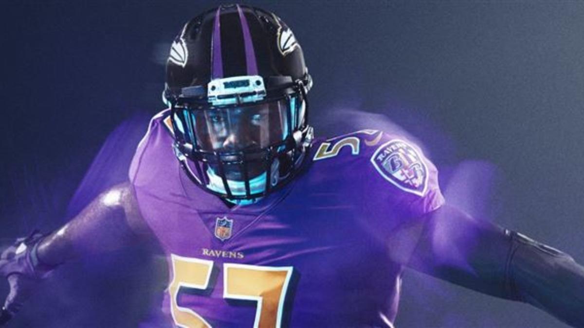 2a73f726 LOOK: Sneak peek of the Baltimore Ravens 'color rush' uniforms -  CBSSports.com
