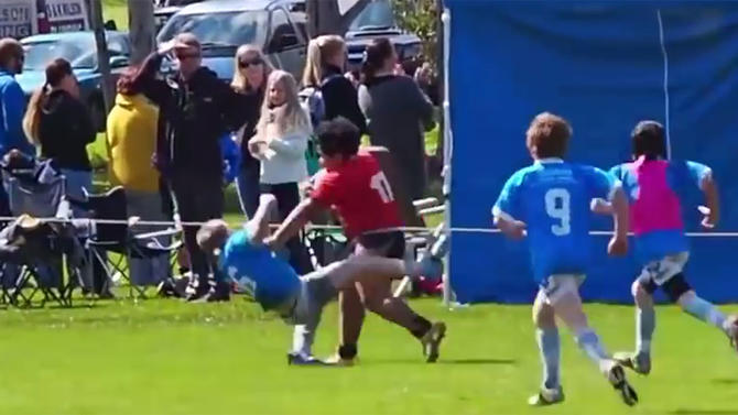 9-year-old a big hit, literally, in Australian tournament