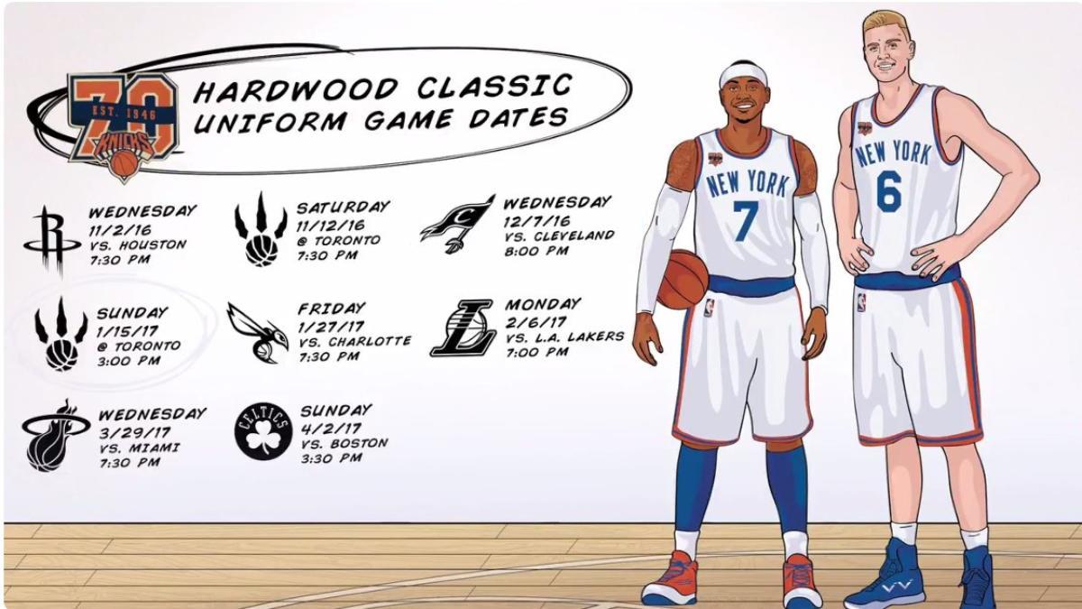 sports shoes 90ac0 b274f LOOK: Knicks unveil throwback Hardwood Classics jerseys ...