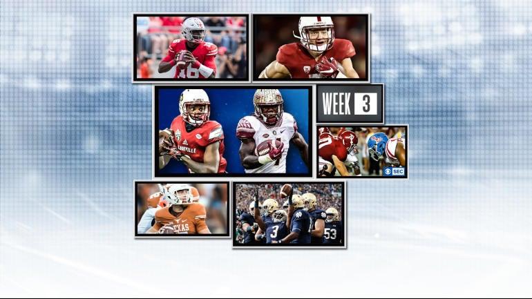 college football plays college football tv schedule week 2