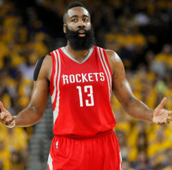 James Harden looks a little confused