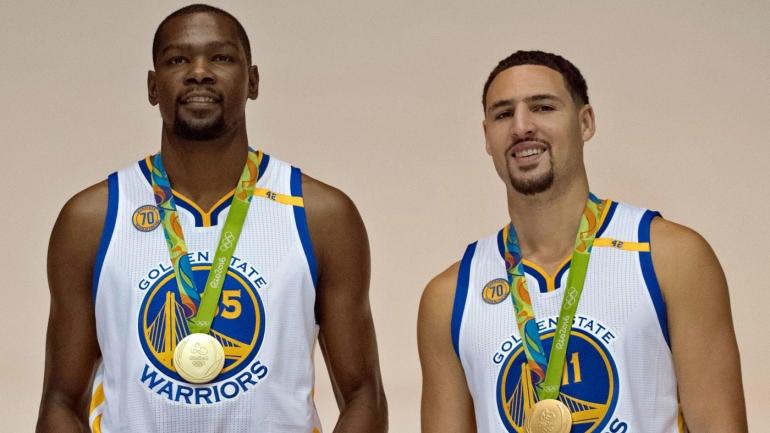 Kevin Durant, Klay Thompson put on insane shooting display ...