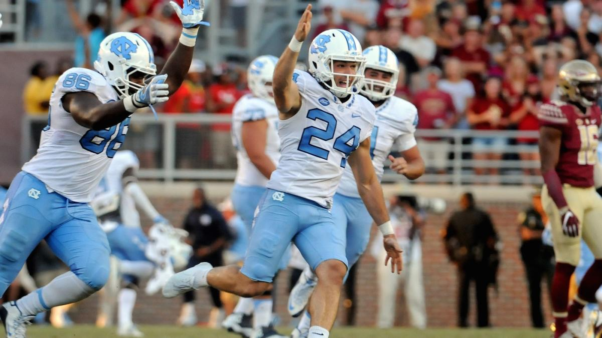WATCH: UNC kicker taunts Florida State mercilessly after