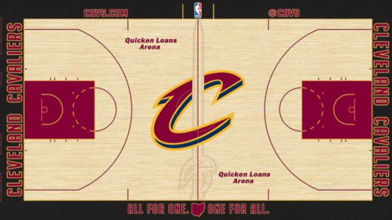 Look Cavs Unveil New Court Design For 2016 17 Nba Season
