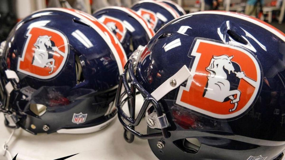 best website a935b 76aff LOOK: Broncos, Chargers unveil sweet helmets for Color Rush ...