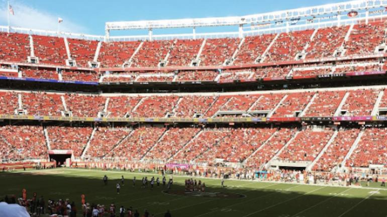 look levi s stadium is almost empty for buccaneers 49ers
