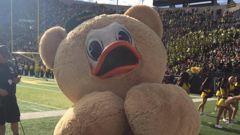 College Bowl Games >> LOOK: Is the Oregon Duck's Halloween costume cute or creepy? You decide - CBSSports.com