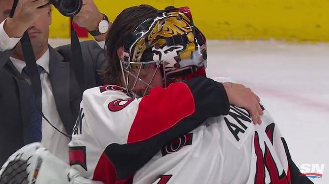 Watch Senators Craig Anderson Shuts Out Oilers After Wife S Cancer
