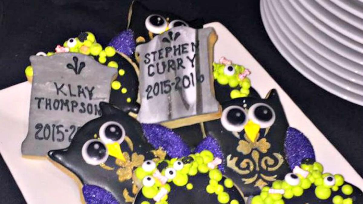 Groovy Look Lebron Crushes Steph Curry Klay Thompson With Halloween Funny Birthday Cards Online Necthendildamsfinfo