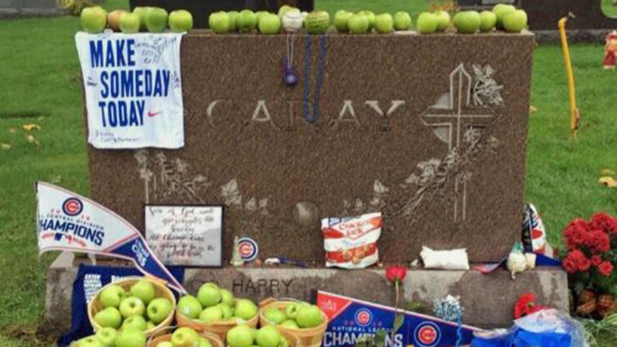 LOOK: Cubs fans leave green apples at Harry Caray's grave after World Series win - CBSSports.com