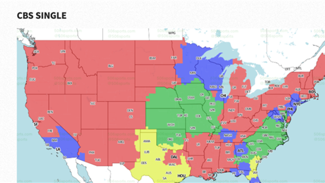 TV coverage map released for Chiefs-Panthers - CBSSports.com on us mail map, french spoken map, wifi service map, p.a map, rich people map, d'hara map, x files map, 9gag map, stage map, living room map, xbox live map, mobile coverage map, gps unit map, ntsc map, dc nightlife map, pmp map, sat map, ai map, region code map,
