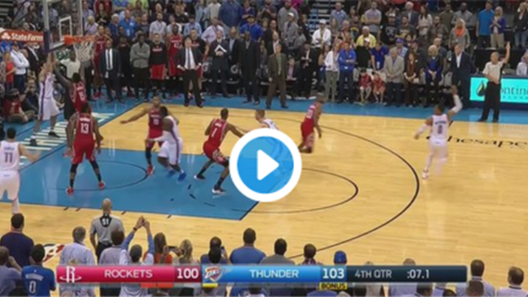 every angle of russell westbrook u0026 39 s dunk over clint capela
