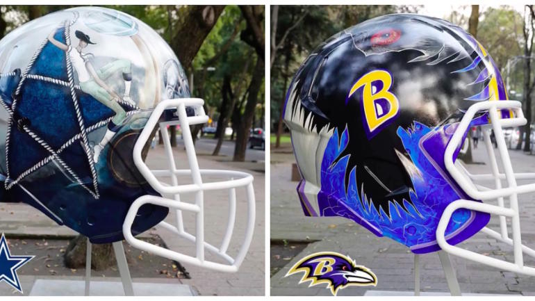 LOOK: NFL helmets get a Mexican makeover before Raiders ...