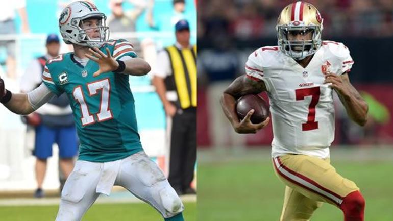 competitive price 7fb4b 085af A look at this week's uniforms: 49ers at Dolphins ...