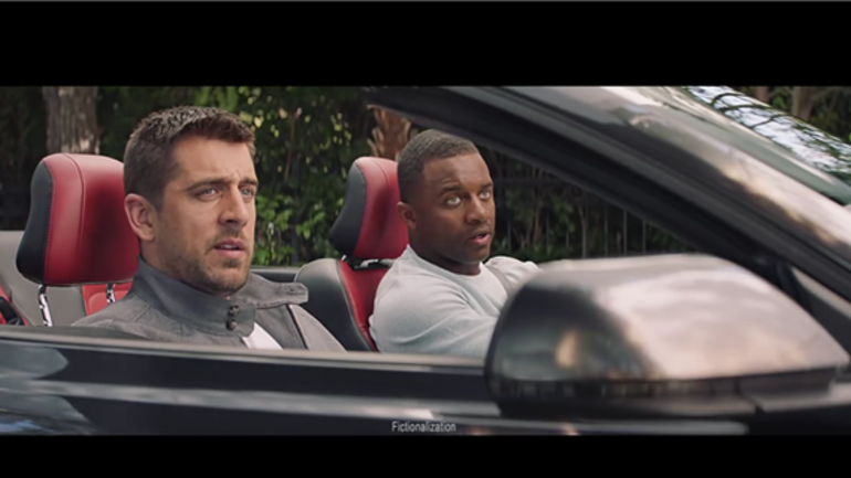 watch aaron rodgers gets burned in new state farm commercial