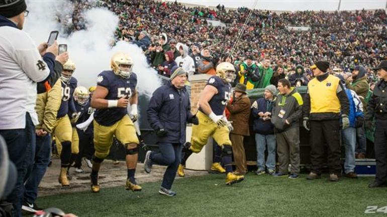 notre dame game today score cbsports.com