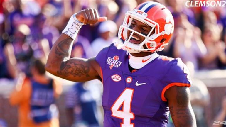 brand new 14270 fdc68 Deshaun Watson Named Heisman Finalist for Second Time ...