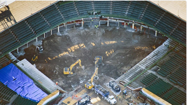LOOK: Wrigley Field renovations continue now behind home ...